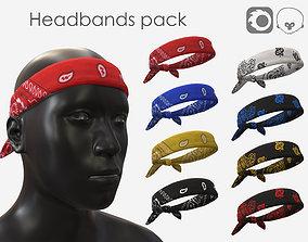 Headbands pack 3D