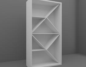 3D model game-ready room Bookshelf