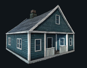 3D asset Abandoned Houses 02