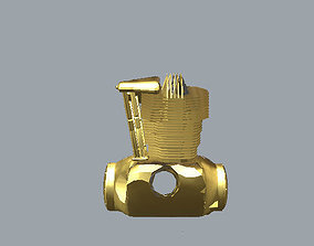 3D print model Harley Engine Pendant