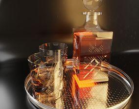 3D scotch Whisky set