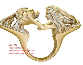 3D printable model 1794 beauty and the beast ring