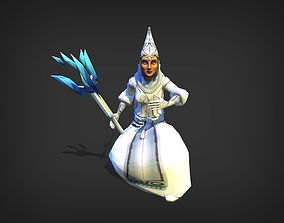 animated Ice Wizard Model