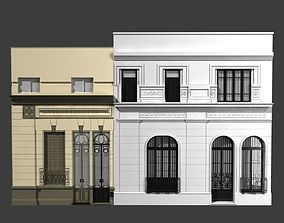 3D model Classic building facade at Buenos Aires
