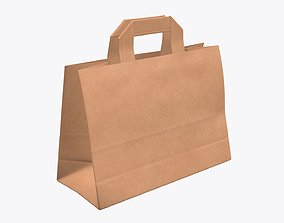 3D Paper bag medium with handle