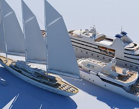 Yacht Collection 3D model