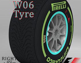 3D asset W06 Intermediate front tyre