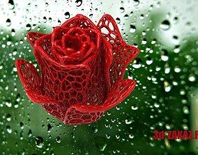 3D printable model Rose Design Voronoi