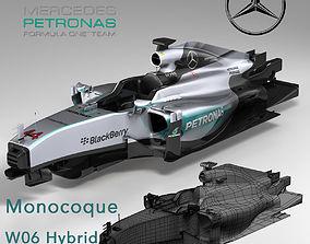 3D asset Mercedes W06 monocoque