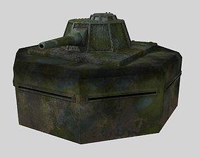 WW II pillbox blockhaus 3D asset