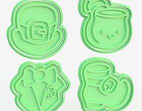 St Patricks Day cookie cutter set of 8 3D print model