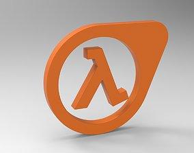 3D Half Life Logo