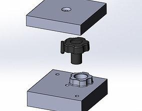 3D Knob and Mold Cavity