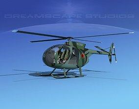 Hughes OH-6 Cayuse V08 3D