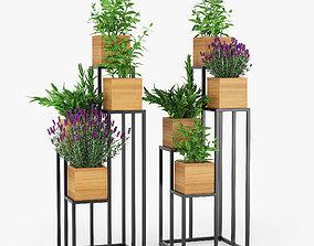 Quadrant Plant Stand 3D model