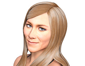 Jennifer Aniston 3d model full rigged model rigged