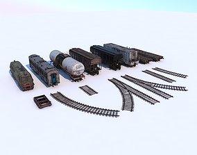 Abandoned Train Pack 3D model