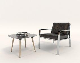 Contemporary Design Armchair Set 4 3D model