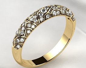 3D print model Beautiful Patterned Gold Ring