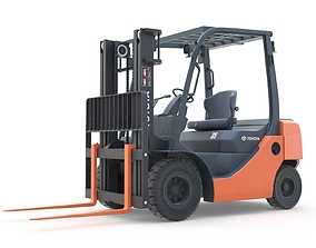 Toyota Core IC Pneumatic Forklift 3D