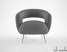 Kelly Wearstler Laurel Lounge Chair 3D