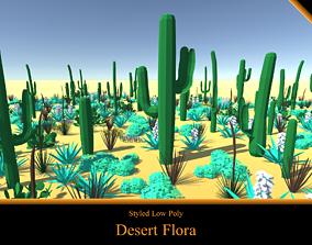 Desert Flora - Styled Low Poly 3D model