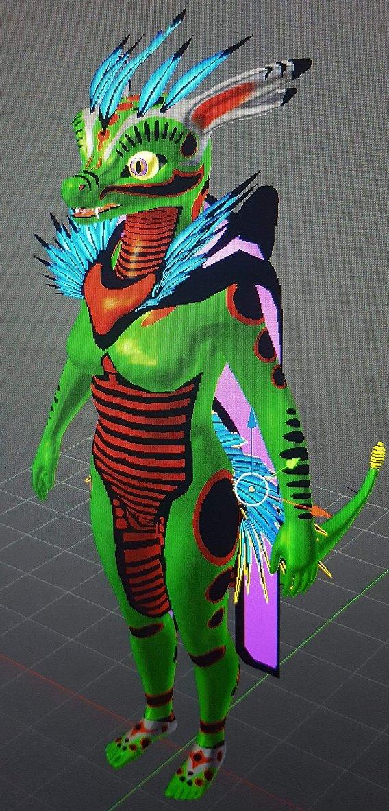 saber Fang (fursuit Design Concept made by Me)