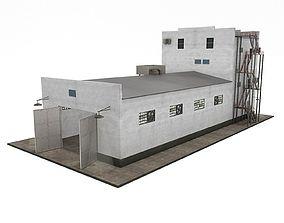 workshop Industrial Building 3D asset game-ready