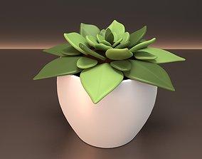 3D model VR / AR ready ecology Plant Pot
