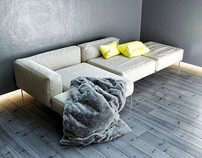 quality Frank sofa by Antonio Citterio 3D model
