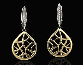 3D printable model pick earrings
