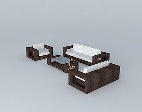 Sofa -01 3D model