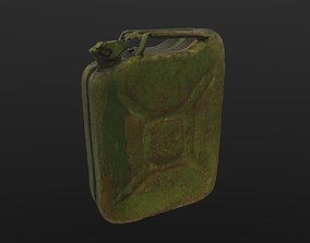 3D model Scanned Jerrycan LOW POLY LODs