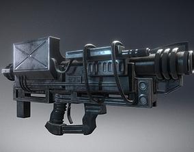 Heavy Blaster Gun 3D asset