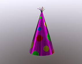 3D asset game-ready Party Hat