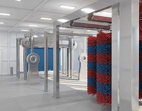 3D model Tunnel Car Wash
