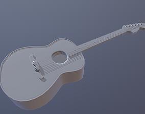 Accoustic Guitar 3D asset