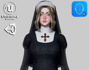 Nun - Game Ready 3D model