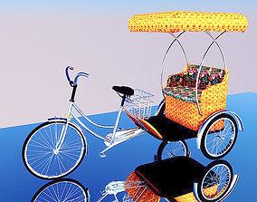rickshaw Bike Rickshaw 2 3D model