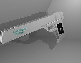 3D asset silverhorn trident