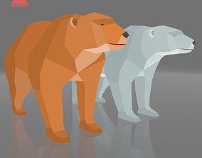 LOW POLY BEAR RIGGED AND ANIMATED GAME CHARACTER 3D model