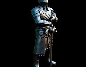 warrior 3D printable model Medieval Black Warrior