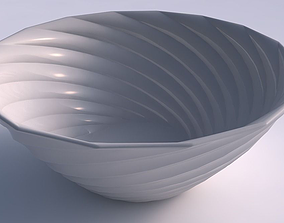 3D print model Bowl wide with twisted bands