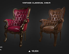 3D model VR / AR ready Vintage Classical Chair