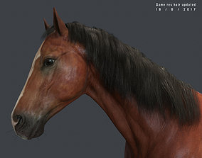Game Horse up 3D asset VR / AR ready
