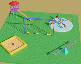 Child Park 3D model low-poly