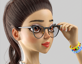 3D model Cartoon Girl Bella