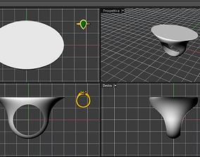 3D printable model anello fascia
