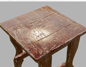 3D model realtime soiled old chair