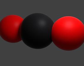 CO2 molecule 3D model